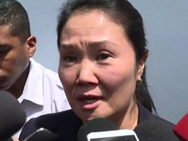"""Keiko Fujimori: """"Esta decisión es injusta, inhumana y será apelada"""""""
