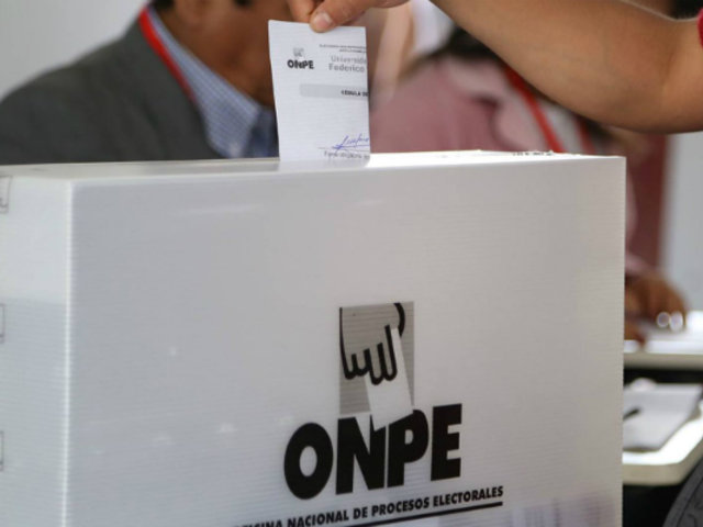 ONPE presentará diseño de cédula para elecciones congresales