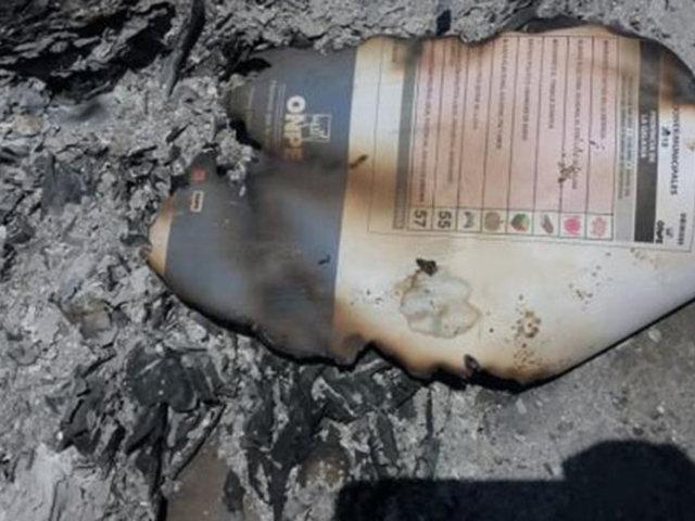 Elecciones 2018: investigan quema de material electoral en La Libertad