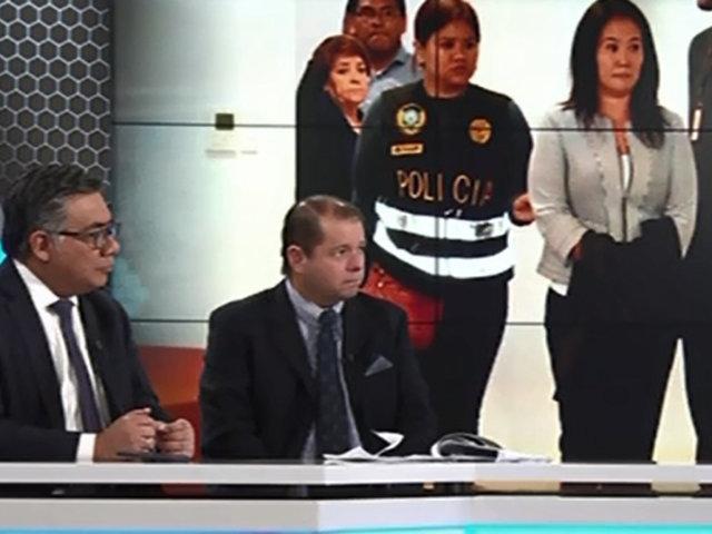 Especialistas indican que prisión preliminar contra Keiko Fujimori no se justifica