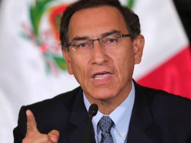 """Presidente Vizcarra: """"posición del Ejecutivo sobre la bicameralidad no ha variado"""""""