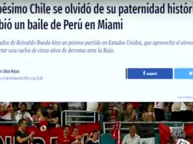 Reacciones de la prensa internacional tras la victoria de Perú sobre Chile