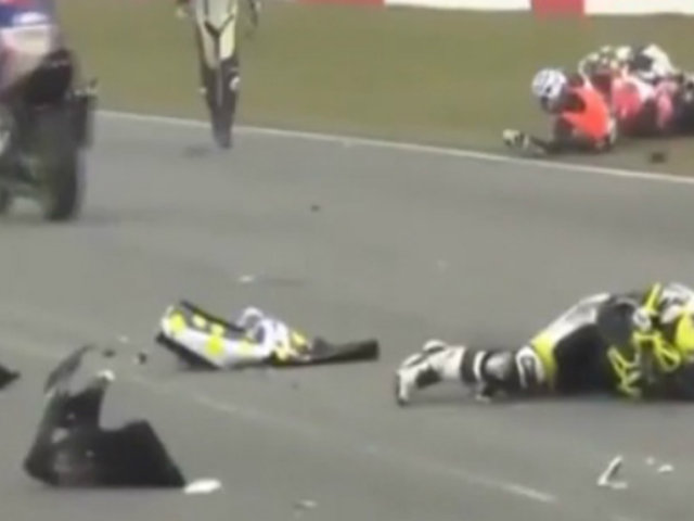 Gran Bretaña: accidente de motos dejó cinco heridos