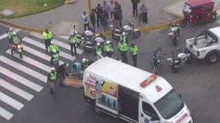 Cámaras de vigilancia captan impactantes accidentes de tránsito en el Centro de Lima