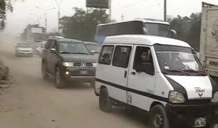 Autopista Ramiro Prialé: sobrecarga vehicular afectó a conductores y pasajeros