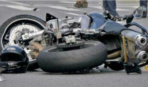 Imprudencia de motociclistas genera accidentes de tránsito en la capital