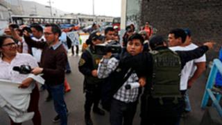 Periodistas fueron agredidos por simpatizantes fujimoristas en Chorrillos