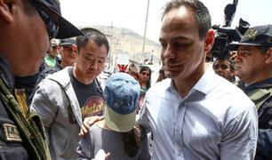 Kenji Fujimori y Mark Vito visitaron a Keiko en penal de Chorrillos