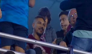 Paolo Guerrero estuvo en el palco durante clásico de U - Alianza