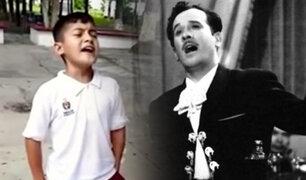 México: niño impresiona al cantar como Pedro Infante