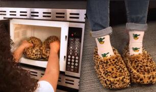 Lanzan al mercado las pantuflas que se pueden meter al microondas