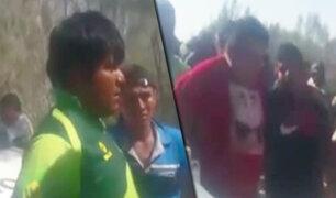Piura: vecinos rescatan a taxista que era secuestrado por delincuentes