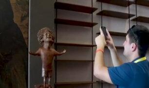 Curiosa estatua de Mohamed Salah generó diversas reacciones