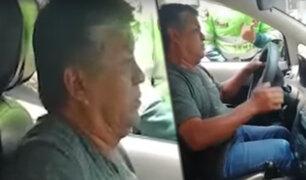 Taxista choca grúa para evitar multa en la avenida Arequipa