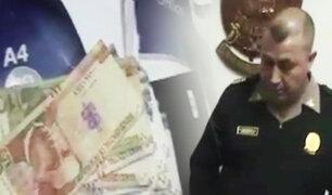 Chachapoyas: comandante PNP es detenido en pleno cobro de coima