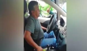 Taxista que chocó su vehículo contra grúa tras ser intervenido cuenta con cuatro papeletas