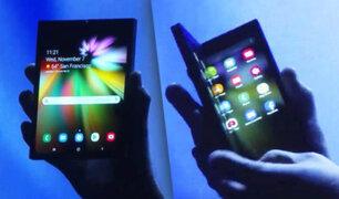 Samsung presentó el primer celular con pantalla plegable