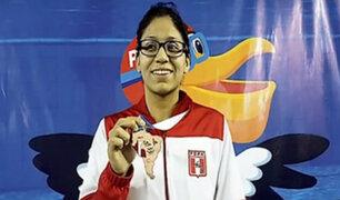 Andrea Hurtado ganó medalla de bronce en Sudamericano de Natación