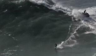 Portugal: surfista desaparece cuando montaba ola gigante en Nazaré