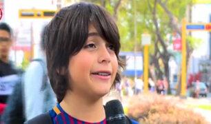 El pequeño Luciano Leroux realizará obra social en Los Olivos