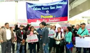 SJL: vecinos bloquean vías tras recorte de líneas por el Corredor Morado