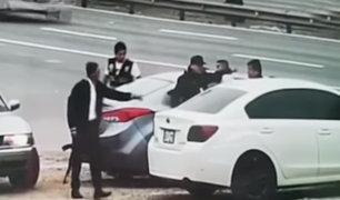 Lurin: detienen a peligrosos ladrones de autopartes en la Panamericana Sur