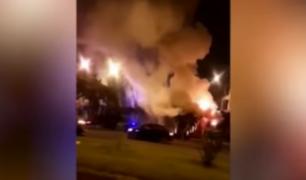 Ate: incendio frente al Monumental afectó a vecinos de la zona