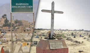 Trujillo: desalojan a invasores de terrenos del cementerio de Mampuesto