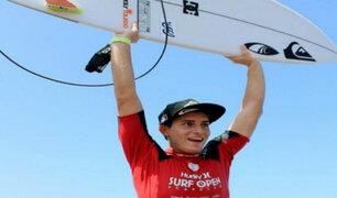 Lucca Mesinas: peruano se consagró campeón de importante circuito de surf