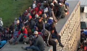Primeros migrantes centroamericanos llegan a la frontera de Estados Unidos