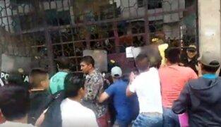 Santa Anita: pobladores se enfrentan a la Policía por asesinato a empresario
