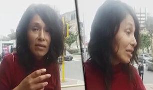Mujer extraviada se encuentra en la Esquina de la Televisión y busca a su familia