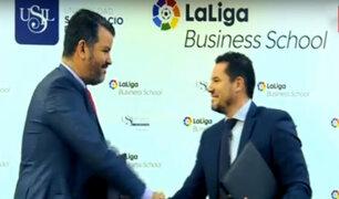 Liga Española firma convenio formativo con importante universidad peruana