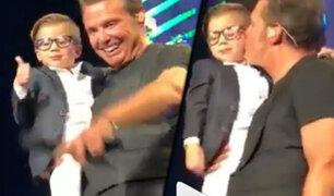 Critican a Luis Miguel tras cariñoso gesto con un niño y no ver a sus hijos