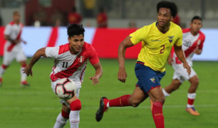Selección Peruana cayó 2-0 frente a su par de Ecuador