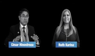 Difunden audio de exjuez Hinostroza con la cantante Ruth Karina