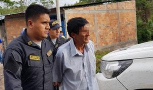 Moyobamba: capturan a sujeto que violó a su hija de 8 años y la embarazó