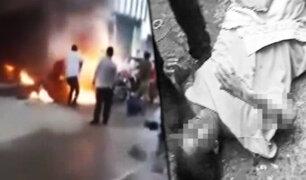 Jaén: mototaxi explota dejando a mujer gravemente herida