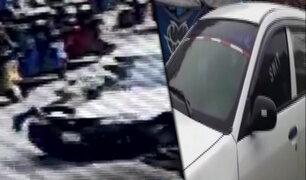 Cañete: policía se trepa a un auto para evitar fuga de conductor