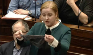 Irlanda: diputada expone una tanga en pleno parlamento