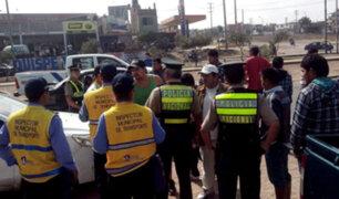 Separadora Industrial: operativo contra transportistas informales culmina en gresca