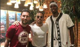 Messi y Pogba visitaron a reconocido chef turco