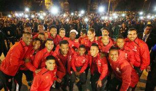 Arequipa: Selección fue recibida en medio de gran algarabía