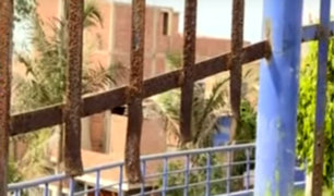 Chorrillos: rejas oxidadas en parque ponen en riesgo a vecinos