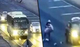 Trujillo: ladrones asaltan bus en movimiento en la Panamericana Norte