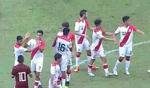 Perú Sub 20 goleó a Venezuela y se coronó campeón del Cuadrangular