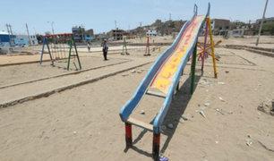 Chorrillos: parques y juegos en mal estado ponen en riesgo integridad de niños
