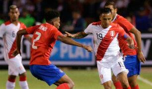 Selección Peruana  cayó 3-2 ante Costa Rica en partido amistoso