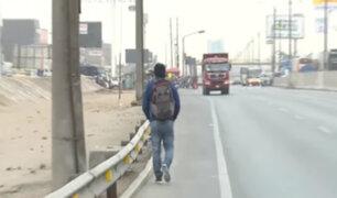 Comas: vecinos y transeúntes fastidiados tras derrumbe de puente