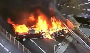 EEUU: un muerto y cinco heridos deja incendio por choque múltiple en el Puente de Brooklyn
